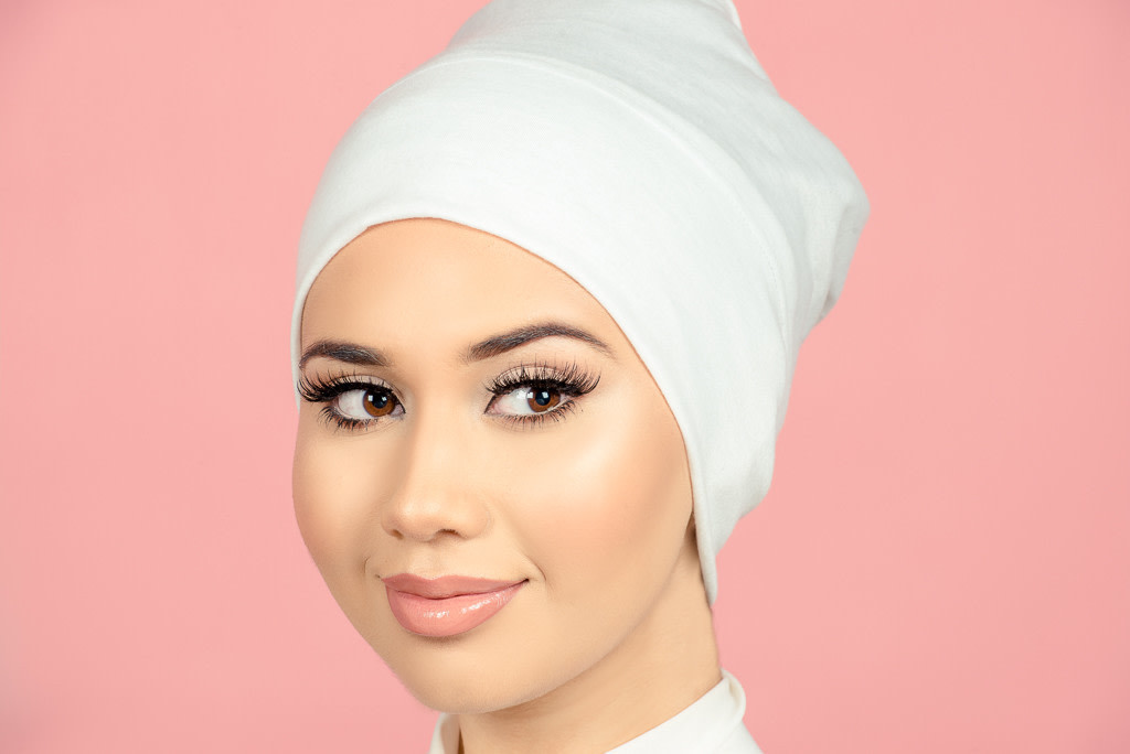 how to style wedding day hijab - bridal hijab