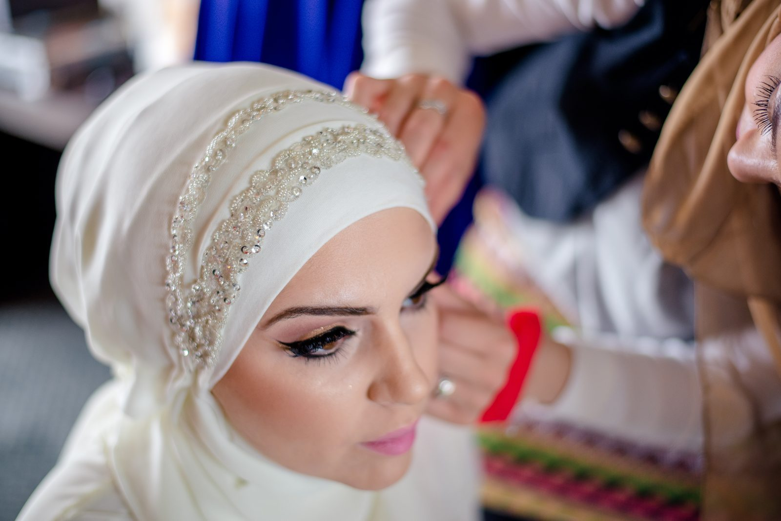 how to style your hijab on your wedding day - bridal hijab