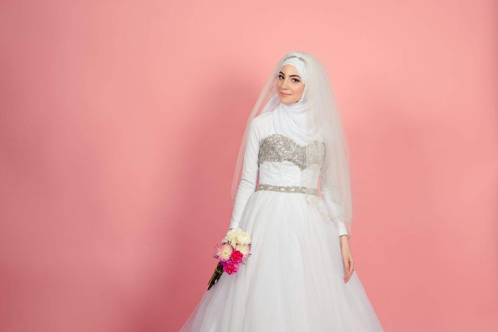 wedding day hijab inspiration - hijabi bride - blancelle